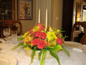 Thanksgiving Centerpiece by Mrs. Major