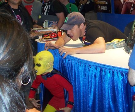 Geoff Johns and the smallest Etrigan ever! EVER!