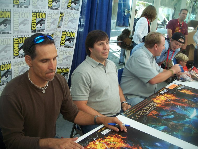 Todd McFarlane, R.A. Salvatore, and Curt Shilling