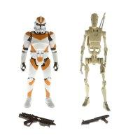 A4313-EpIII-Clone-Trooper-212th-(orange-stripes)-vs.-Battle-Droid-(tan)