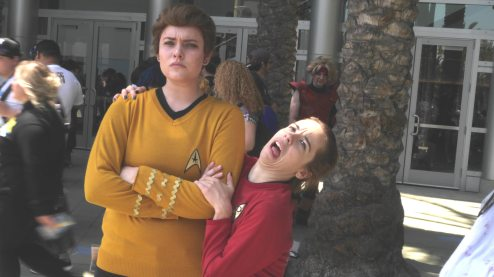 Captain Kirk and Redshirt