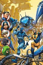 Justice League, Spider-Man, X-Men, Jean Gray Academy, Elliott Kalan, Marvel Comics, DC Comics, Avengers Academy, Batman Beyond, Booster Gold, Blue Beetle, Kyle Higgins, Bruce Wayne, Terry McGinnis
