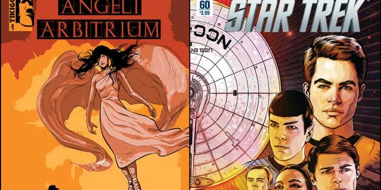 Wayne Hall, Wayne's Comics, TikiGod Comics, Joseph Bradford, Angeli Arbitrium, Elle Moonbeard, Seekers of Shine, Star Trek, Mike Johnson, Ryan Parrott, Manifest Destiny, Klingons, Enterprise, crossover, Kickstarter, IDW Publishing, Captain Kirk, Spock,