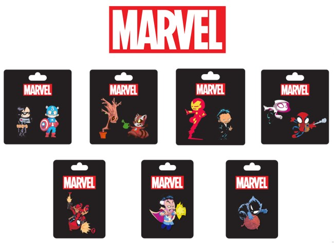 Marvel SDCC 2016 Pins Packaging
