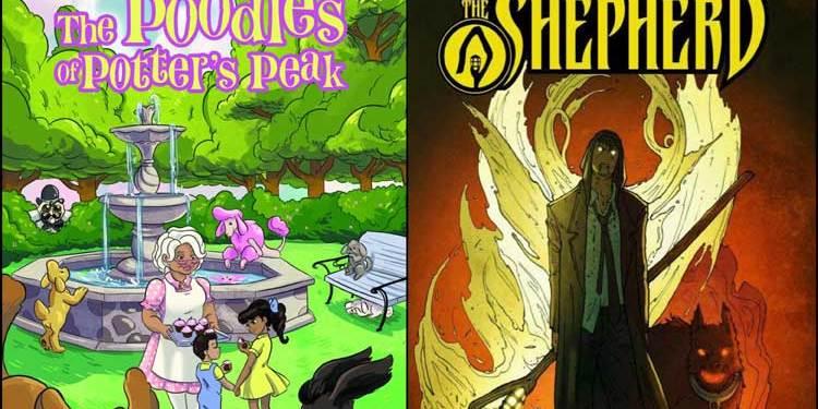 Wayne Hall, Wayne's Comics, Tart, Poodles of Potter's Peak, UnderWars, Kechal Comics, Kevin Joseph, Andrea Molinari, Roberto Molinari, Shepherd, Caliber Comics