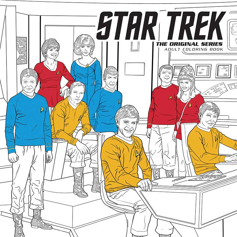 solicitations dark horse adds star trek coloring book to its lineup