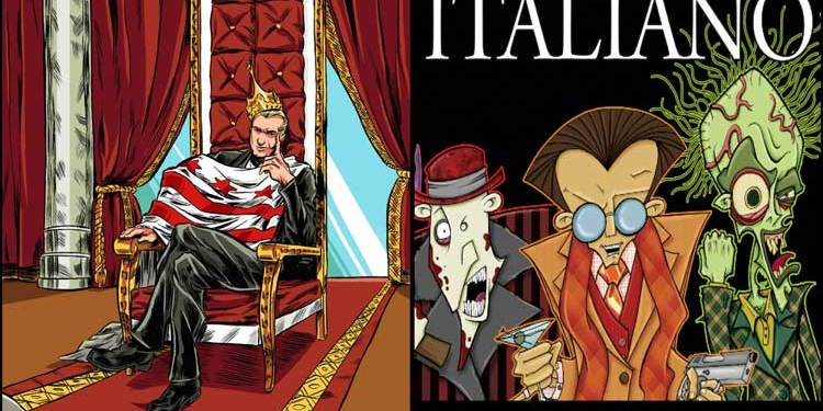 Wayne Hall, Wayne's Comics, SFC Comics, Kickstarter, Italiano, Mike Bloom, mobster, America's Kingdom, Angelica Reigns, Price Geoffrey, Stinky Joe Elbo, Beeno Bigs, Jesse the Peach, Benny Buscellini, Mario Italiano