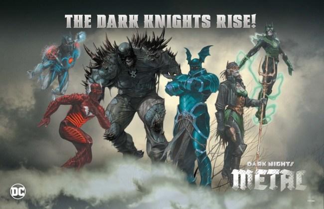 Evil Batmen of the Dark Multiverse Dark Metal