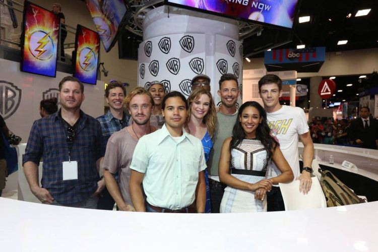 The Flash Cast at the San Diego Comic Con 2017