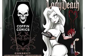 Dan Mendoza Lady Death cover for Coffin Comics