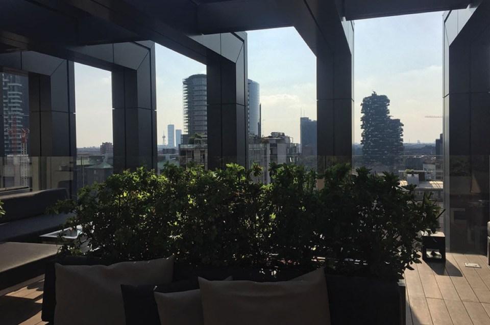 Rooftop of Hotel La Gare Milano