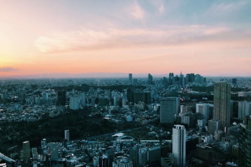 Sunset Ritz Carlton Tokyo