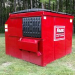 Major Waste 6 Yard Container front load side