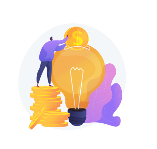 Image showing someone putting a coin in a lightbulb