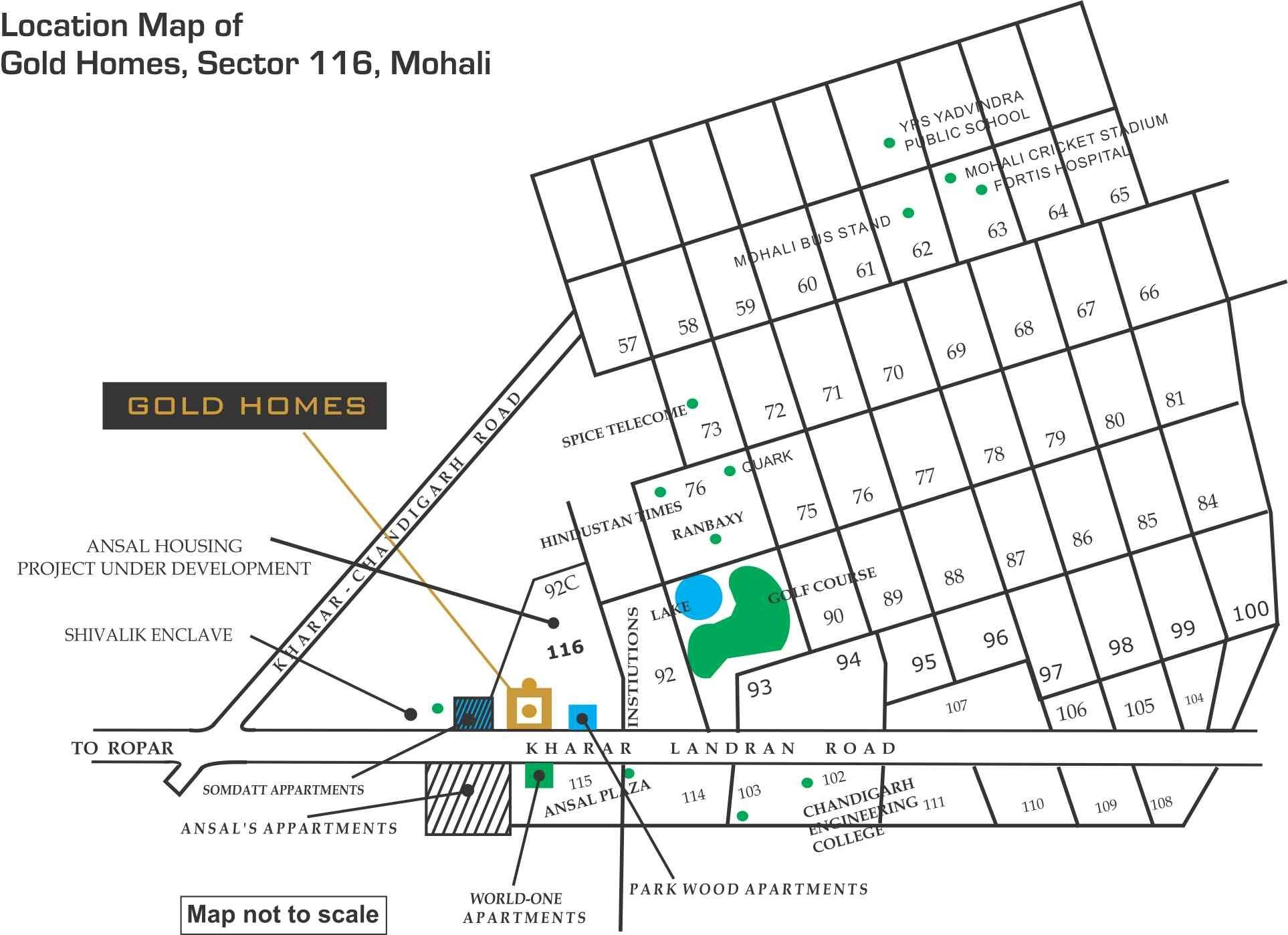 Gold Homes Sector 116 Mohali 2bhk 3bhk Flats At Affordable