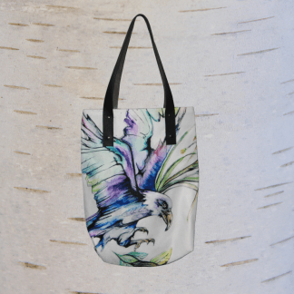 image of eagle tote bag