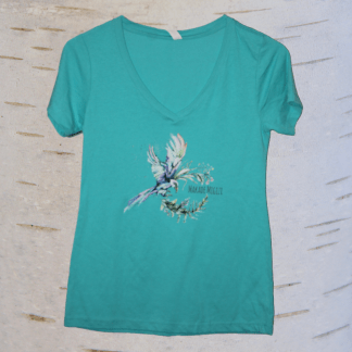 image of eagle v neck in teal