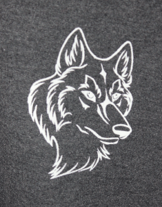 close up of wolf print