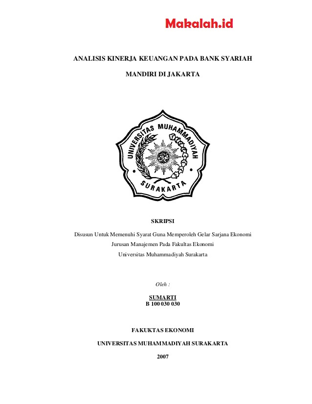 Jurnal Skripsi Akuntansi Syariah