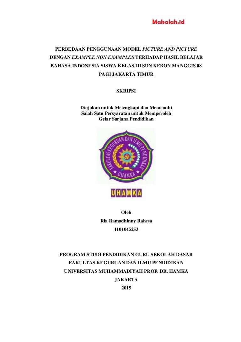 20 Judul Skripsi Bahasa Indonesia Untuk Pgsd
