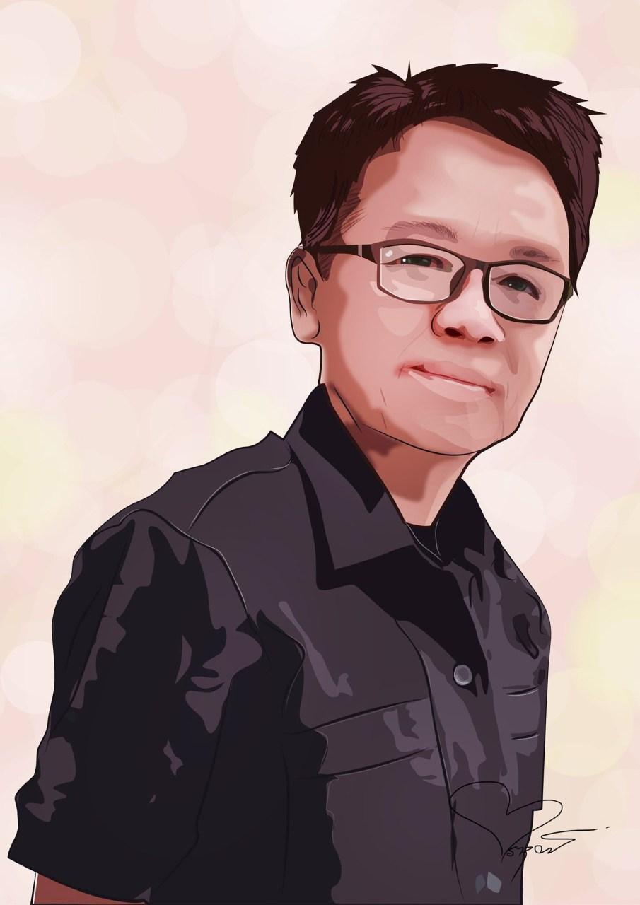 วาดภาพเหมือน Portrait Illustration ด้วย โปรแกรม Illustrator