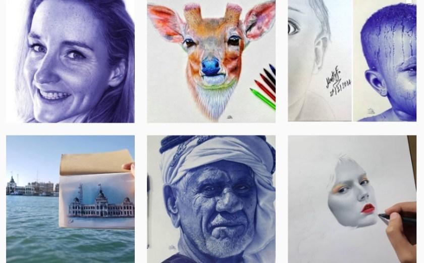 Mostafa Khodeir ศิลปินวาดภาพเหมือนด้วยปากกาลูกลื่น