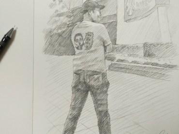 ภาพเหมือนดรออิ้ง-วาดภาพเหมือนลายเส้นดินสอ-ภาพวาดผู้ชายสไตล์ลายเส้นดินสอ