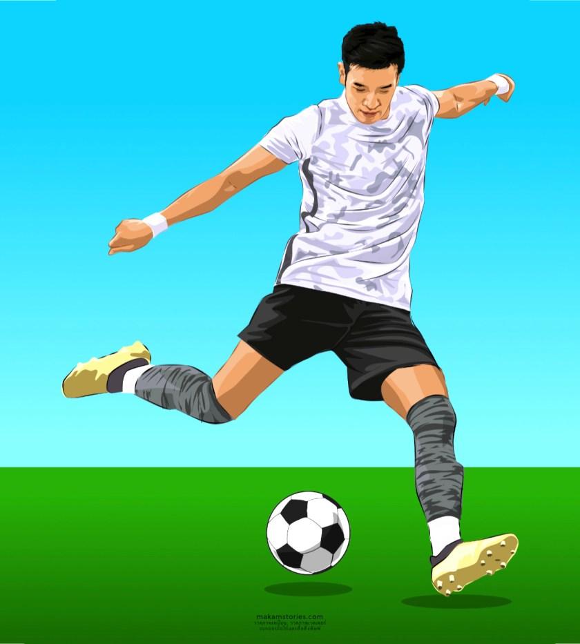 วาดภาพเหมือนเวคเตอร์ ภาพเหมือนดาราฟุตบอล วาดภาพเหมือนด้วยโปรแกรม Affinity Designer