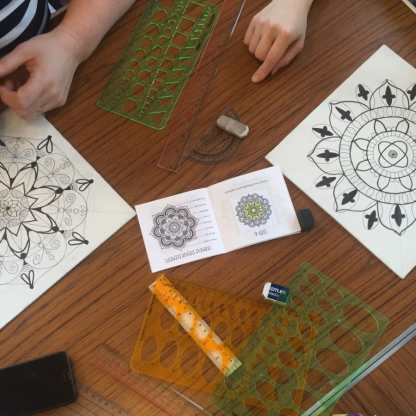 ศิลปะการวาดภาพ Madala (ภาพจาก obby.co.uk)