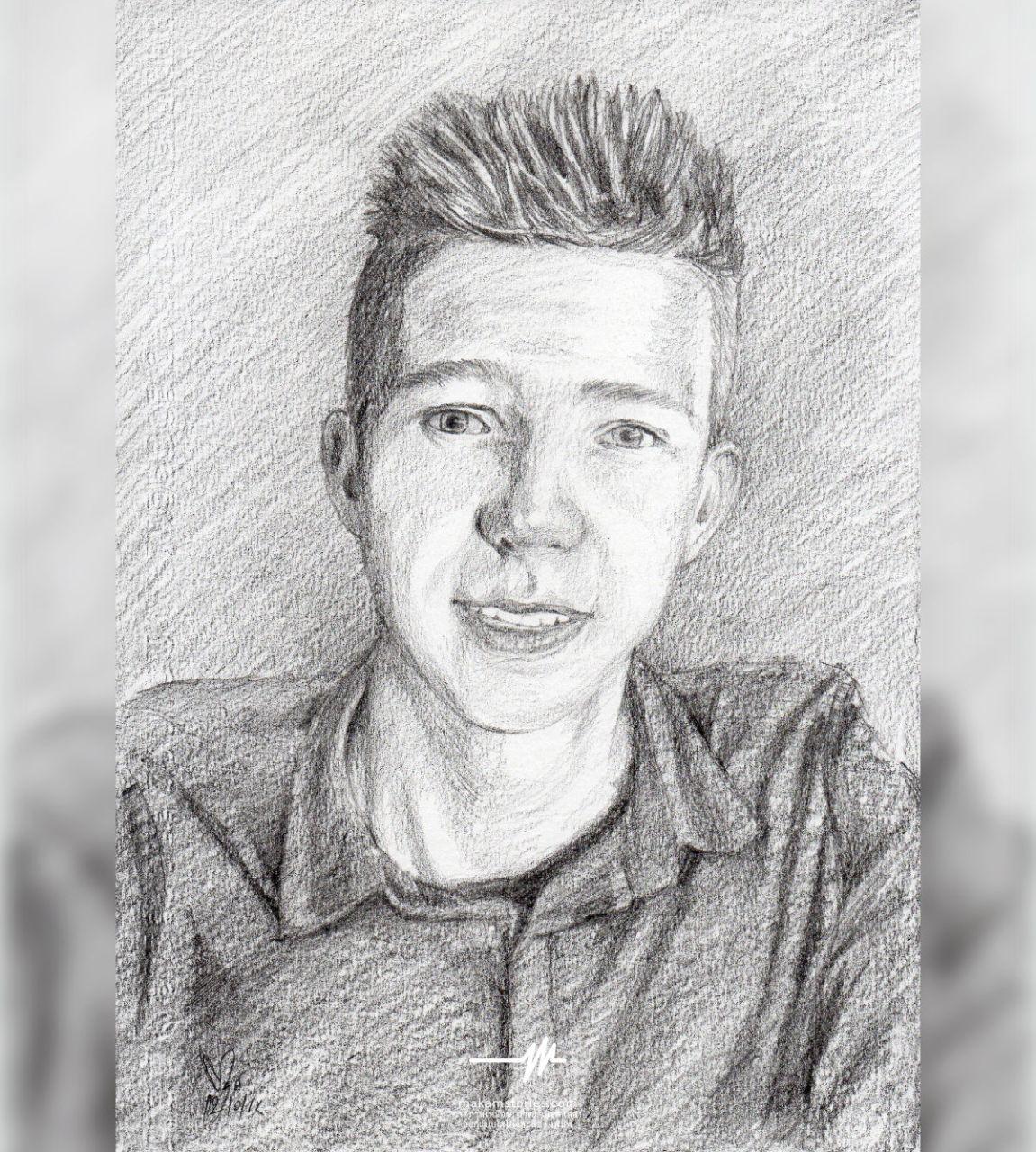 วาดภาพเหมือนลายเส้น ภาพวาดรออิ้งผู้ชาย ภาพวาดลายเส้นชาวต่างชาติ Drawing Portrait