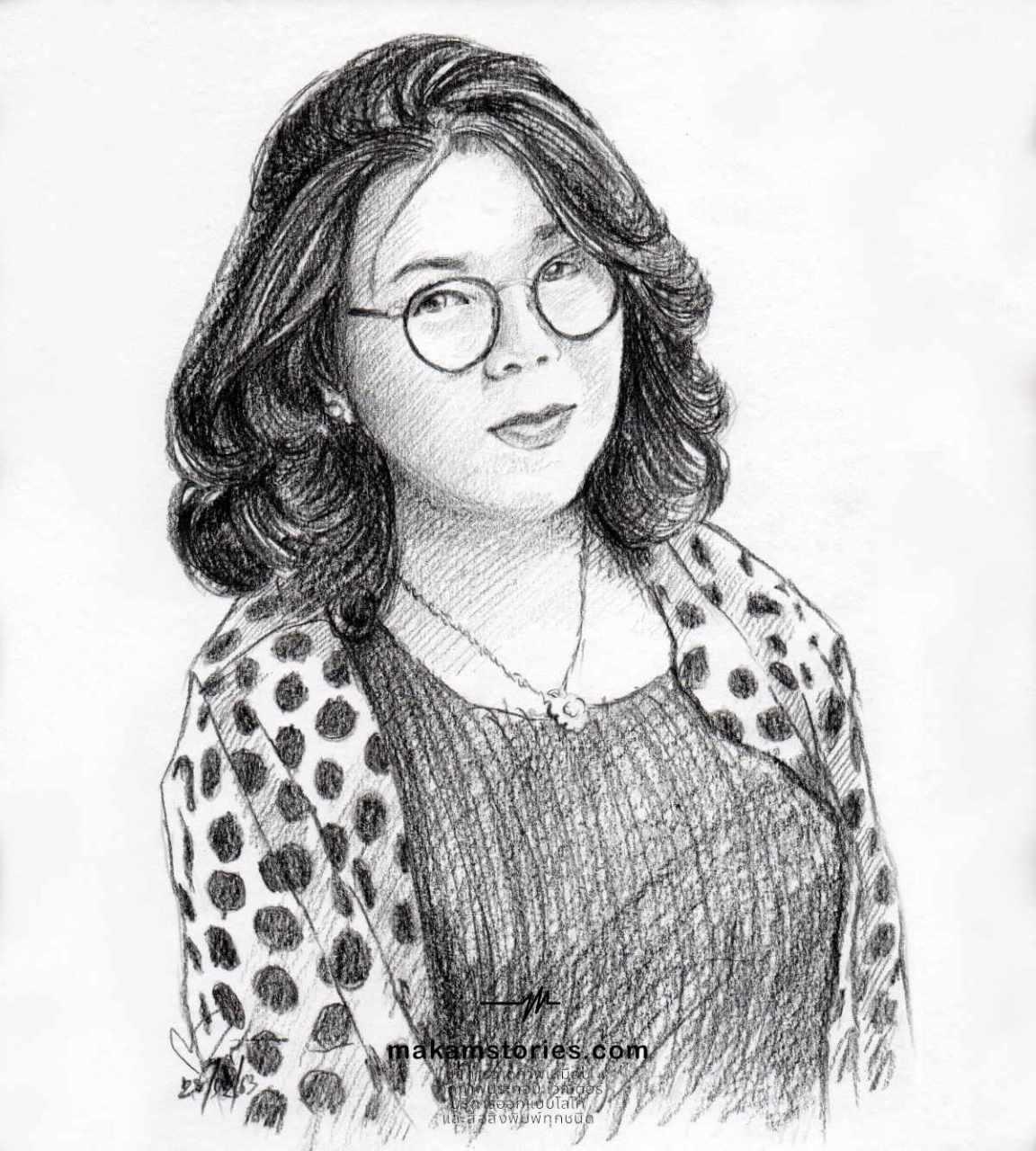 วาดภาพเหมือนลายเส้นดินสอ ภาพเหมือนดรออิ้ง ภาพวาดลายเส้น Drawing Portrait