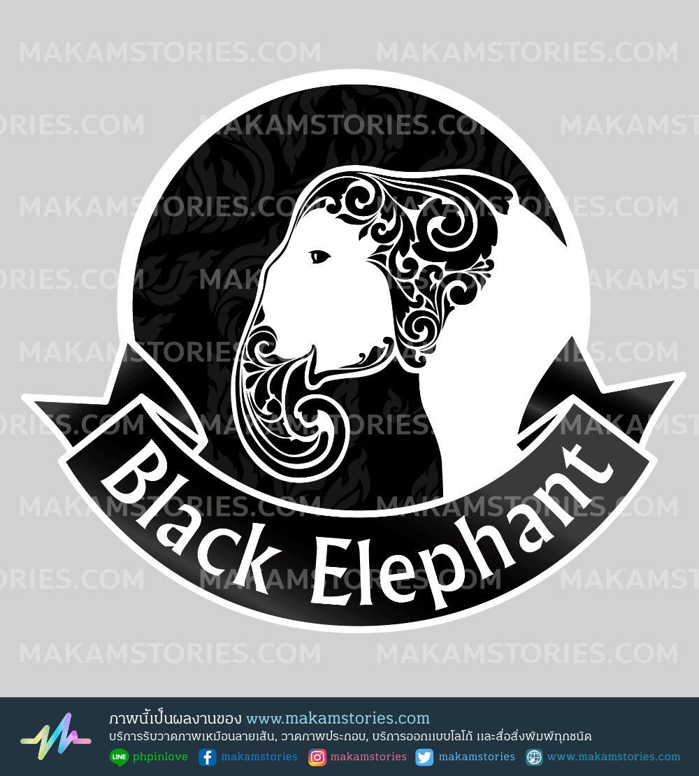 โลโก้ช้าง โลโก้ชมรม Thai Elephant Logo