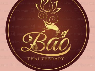 โลโก้ร้านนวดแผนไทย โลโก้ลายไทย Thai Massage Logo