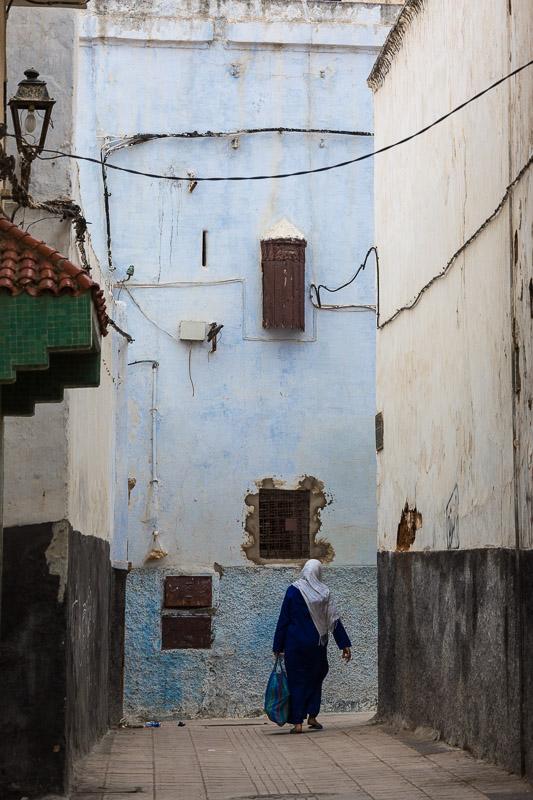 Die engen Gassen von Rabat
