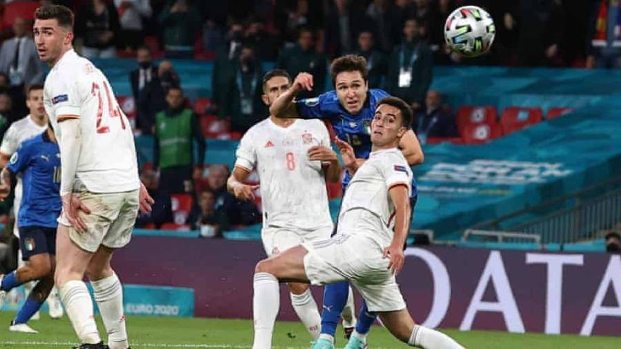 Chiesa Goal Euro 2020 : Itali 'Berpeluh' Ke Final