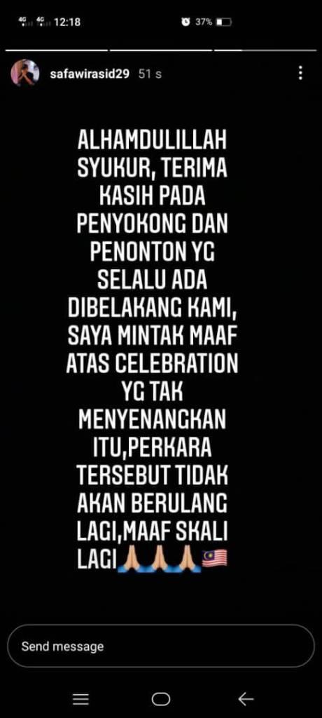 safawi mohon maaf Safawi Rasid Akui Kesilapan, Mohon Maaf Kepada Peminat