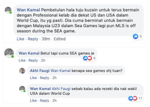 wan kamal facebook Wan Kuzain & Kuzri Masih Berpeluang Wakili Negara