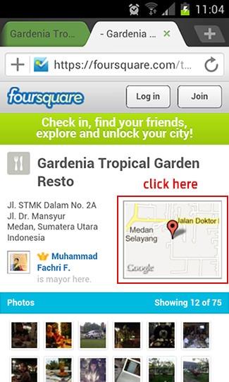 Cari tempat makan dengan Foursquare dan Google Maps 2