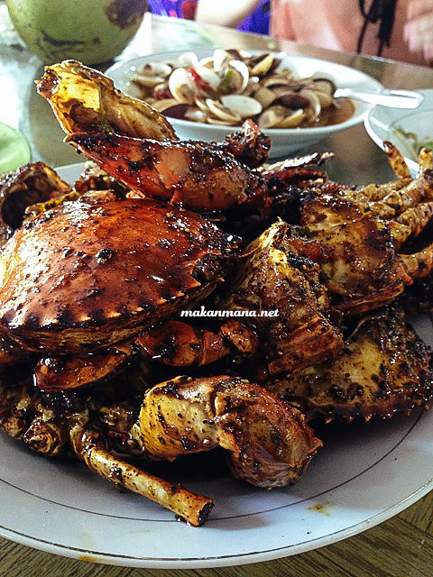 kepiting lada hitam RM Ingah, Pantai Cermin, Perbaungan