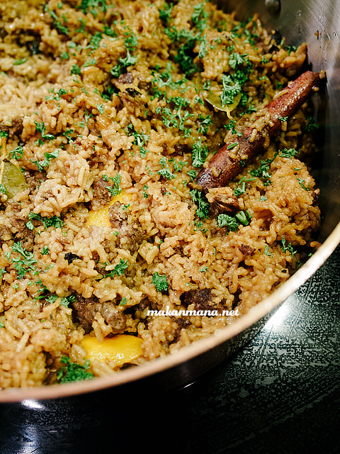 Oriental Rice, moderate spice and flavorful