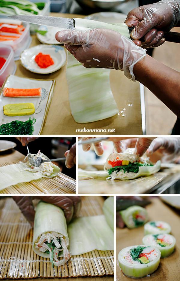 making of sushi