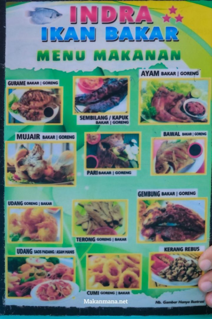 Menu Indra Ikan Bakar Sunggal