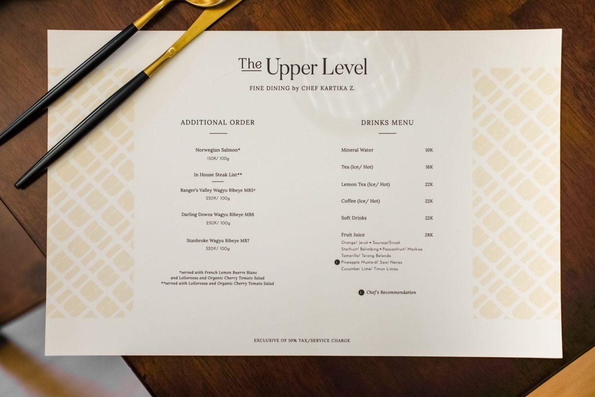 The Upper Level — Fine Dining di Medan, Serasa Dibawa Keliling Dunia