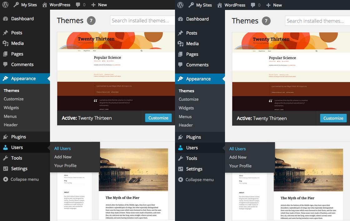 Default Admin Color Scheme Update Make WordPress Design