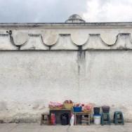 Typical street scene in Antigua