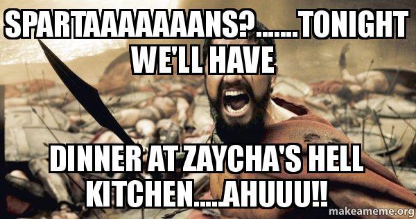 Dinner Zaycha Hell Kitchen Ahuuu 300 Make Meme