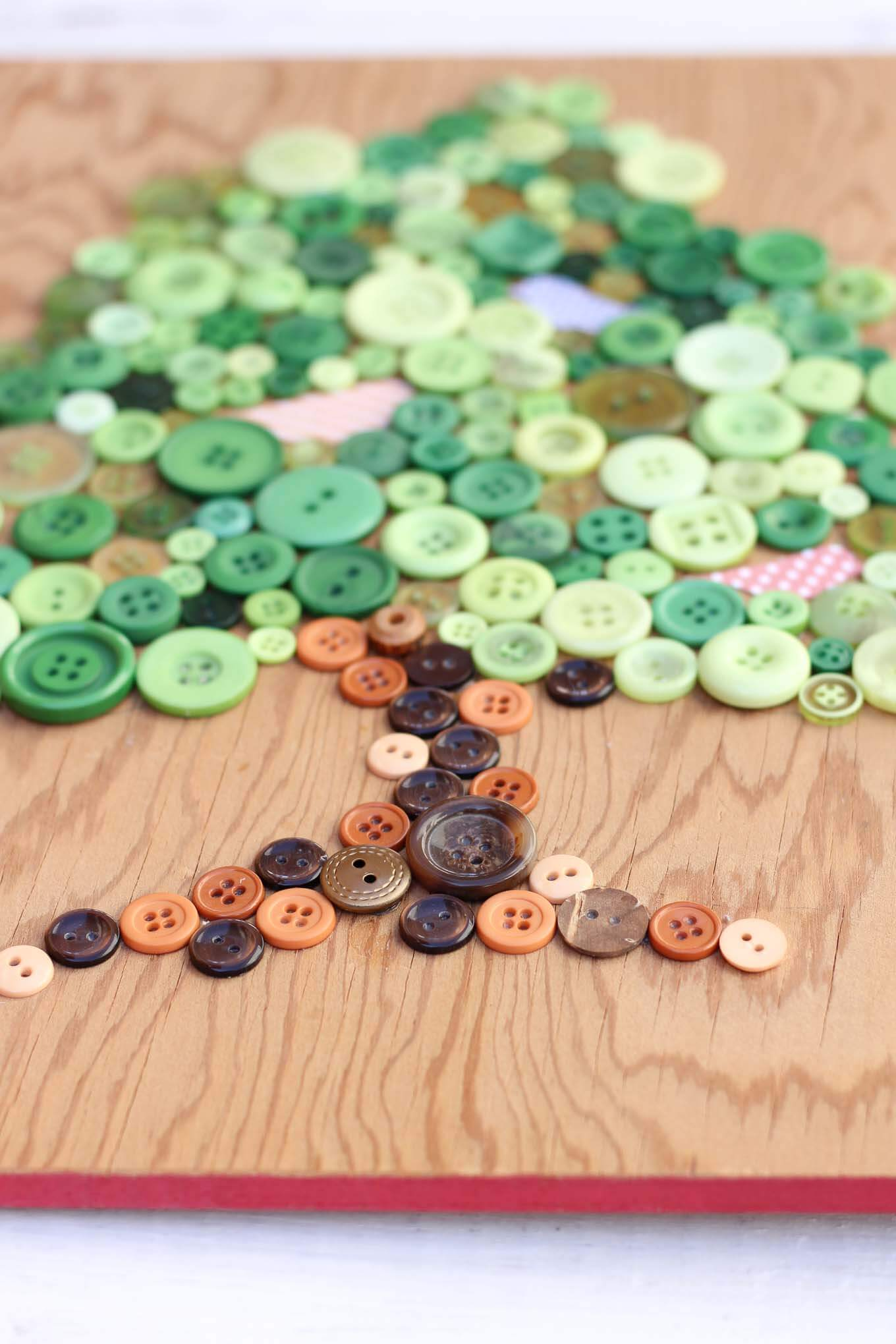 Diy Wall Art Using Buttons With Printable Template