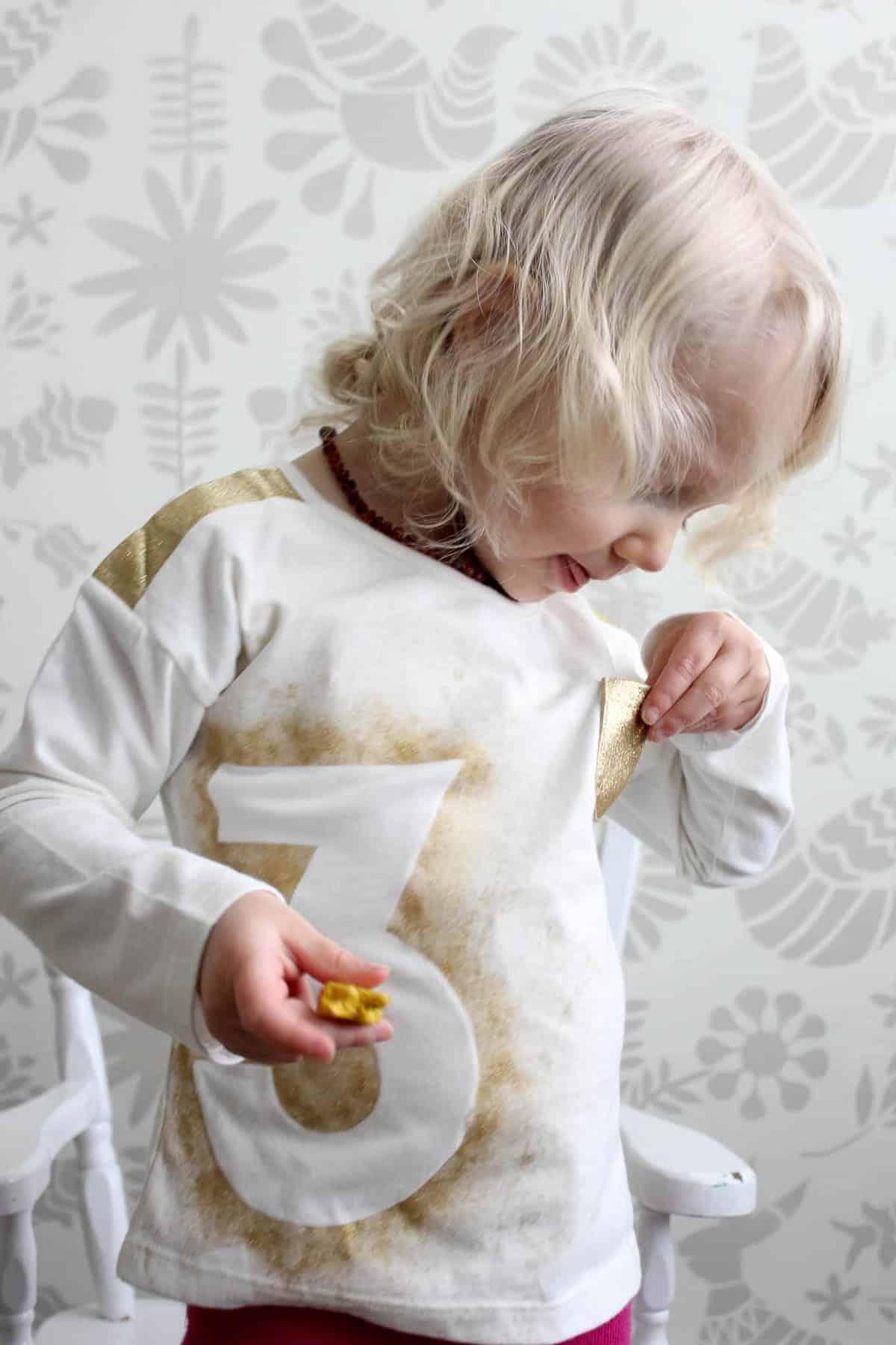 Personalized Diy Kids Birthday Shirt Idea Make It Together