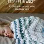 Tributary Free Beginner Crochet Baby Blanket Pattern Make Do Crew