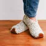 Easy Fast Crochet Slippers Made From Rectangles Make Do Crew